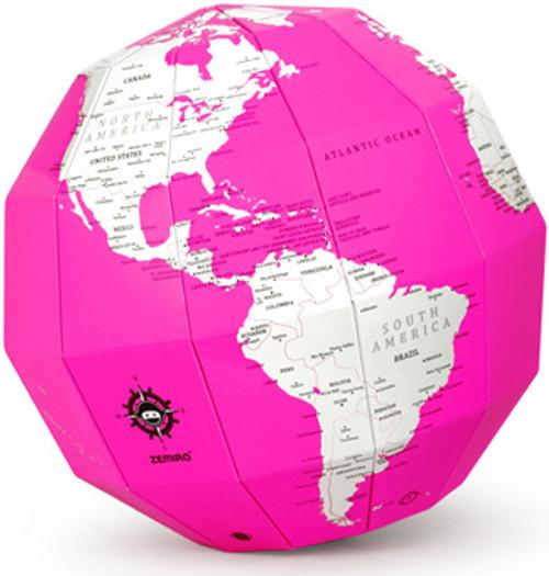 Pink Dry Erase Polygon Folding Globe