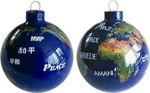 Peace Globe Ornament