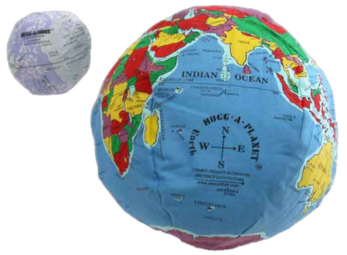 Hugg-a-planet with Moon - Political Earth