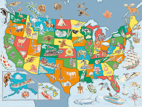 USA Map Puzzle - 100 Pieces