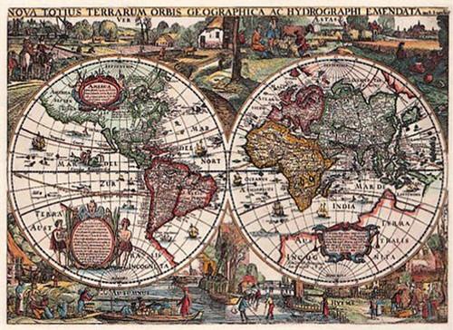 Historic World Map Puzzle - 1636