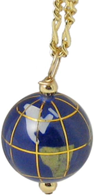 GEMSTONE GLOBE PENDANT NECKLACE