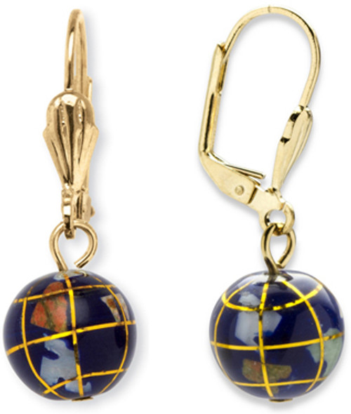 Gemstone Globe Earrings