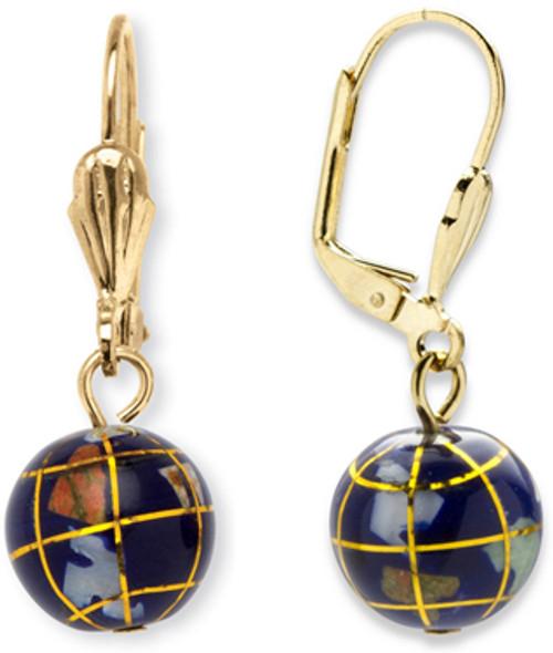 Gemstone Globe Earrings