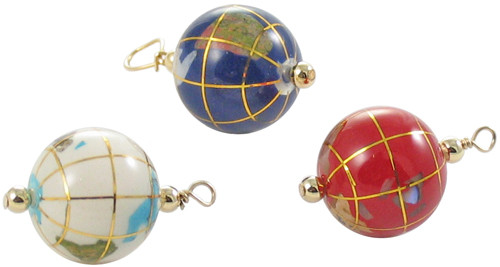 Gemstone Globe Pendants