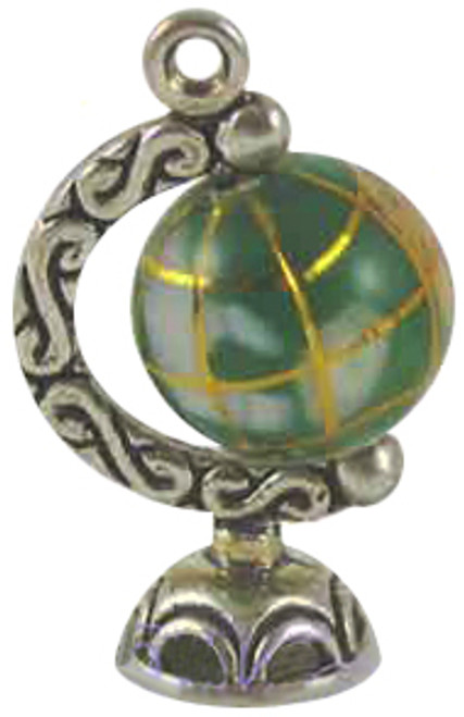 GLOBE JEWELRY - Gemstone World Globe Charm