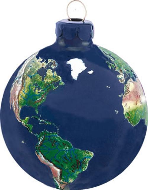 Natural Earth Globe Ornament