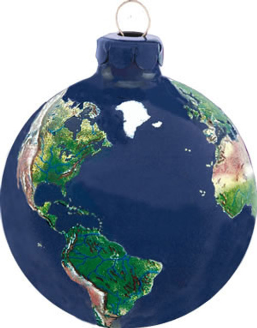 Natural Earth Globe Ornament
