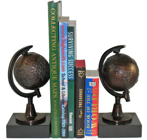 Bronze Semi-Meridian Globe Bookends
