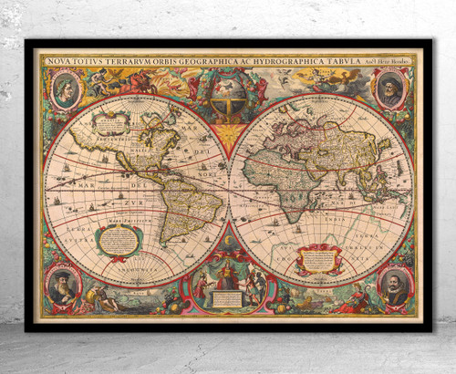 World 1630 Old Map