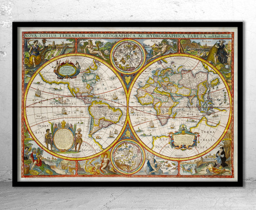 World Antique 1630 Old Map PrinT