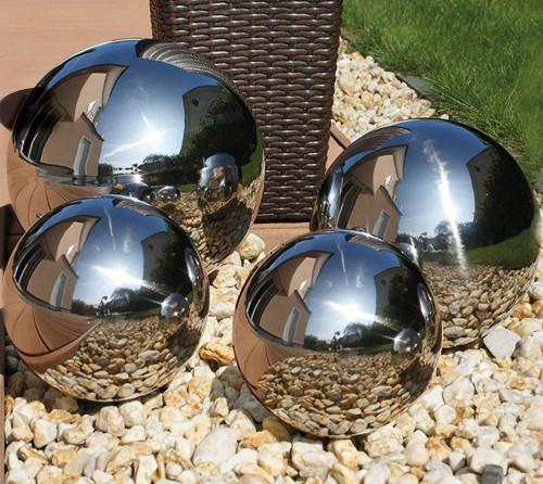 Stainless Steel Gazing Balls - Mirror Finish Stainless Steel Spheres