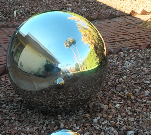 12 inch Stainless Steel Gazing Balls - Mirror Finish Stainless Steel Spheres