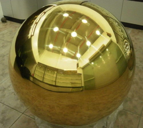 Gold Color Plated 16 inch Stainless Steel Gazing Ball