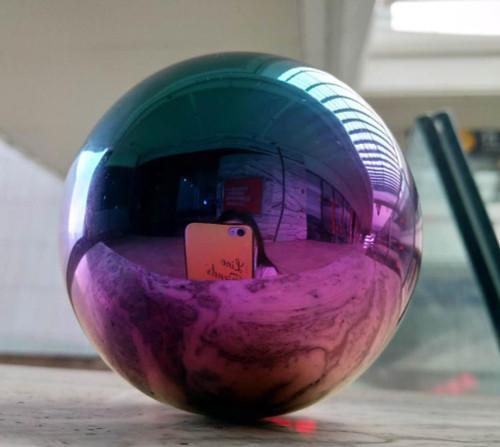 Rainbow Multicolor Stainless Steel Gazing Balls - Mirror Finish Stainless Steel Spheres