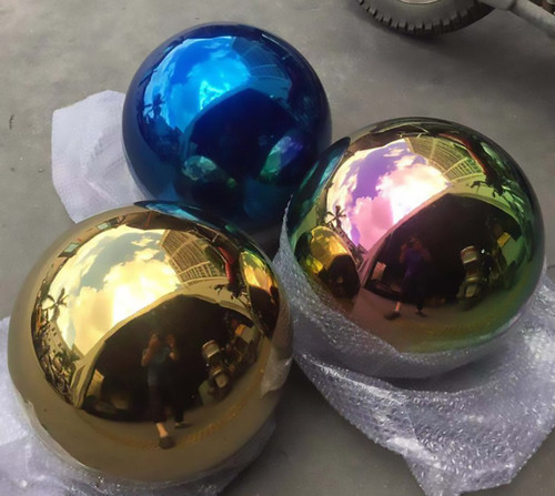 Mirror polished gazing globes with color tint