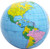 "12"" Dark Blue Inflatable Political Globe"
