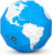 Blue Dry Erase Polygon Folding Globe