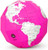 Pink Dry Erase Polygon Folding Globe