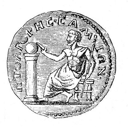 Globe on coin