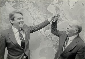 Gaylord Nelson (Earth Day founder) with William K. Reilly, Earth Day 1990