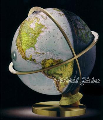 planet earth illuminated globe