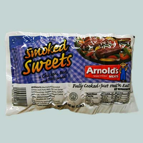 Arnold's Smoked Sweets Chicken, Beef, and Pork Sausage 1lb