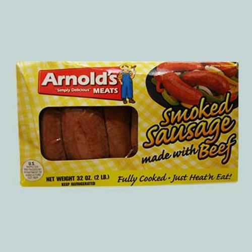 Arnold's Smoked Beef Sausage 2 Lbs
