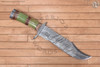 american, bowie, hunting, knife, damascus,