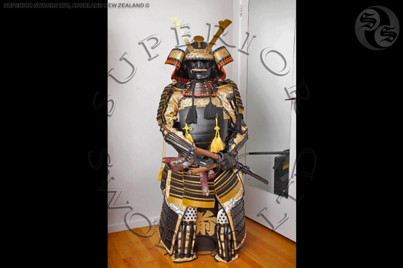 Samurai Armour - Black/ Gold - Yoroi - Superior Swords Ltd