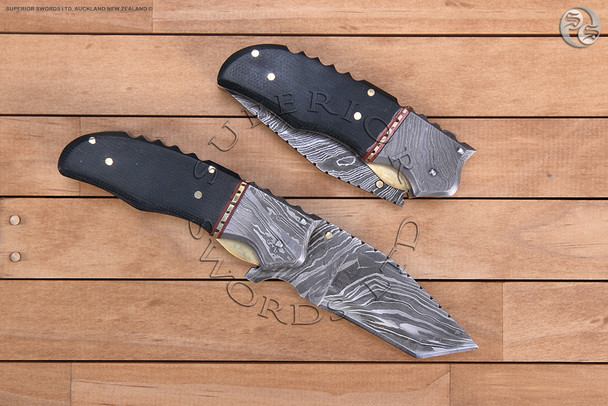 damascus, folding, knife, folder, pocket, pocket-knife, handmade, handforged
