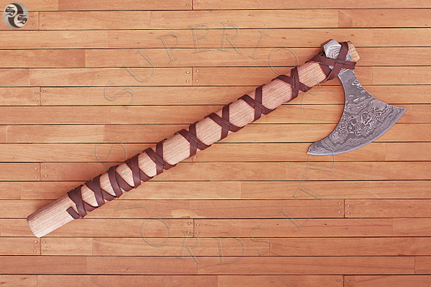 ragnar, lodbrok, axe, viking, damascus, steel