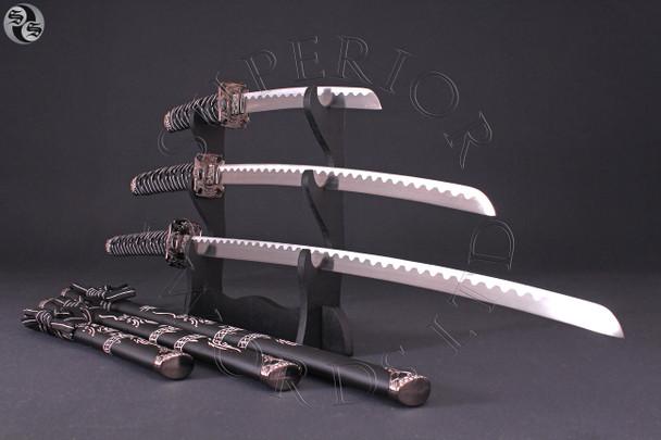 DRAGON, DAISHO, SWORD, SET, KATANA, WAKIZASHI, TANTO, SAMURAI, JAPAN, JAPANESE,