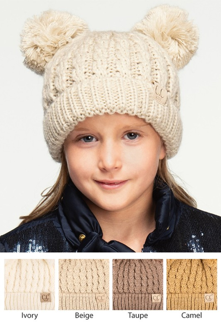 5413ca7d2b3 Kids CC Double Pom Knit Beanie - Cordial Lee