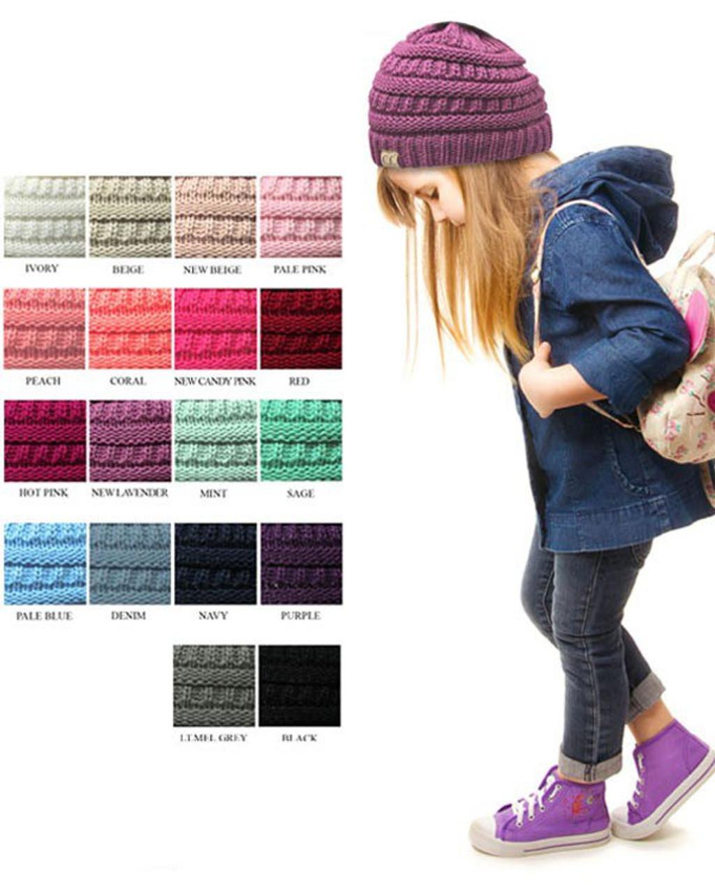 Kids CC Knit Beanie - Cordial Lee 632598efb1c