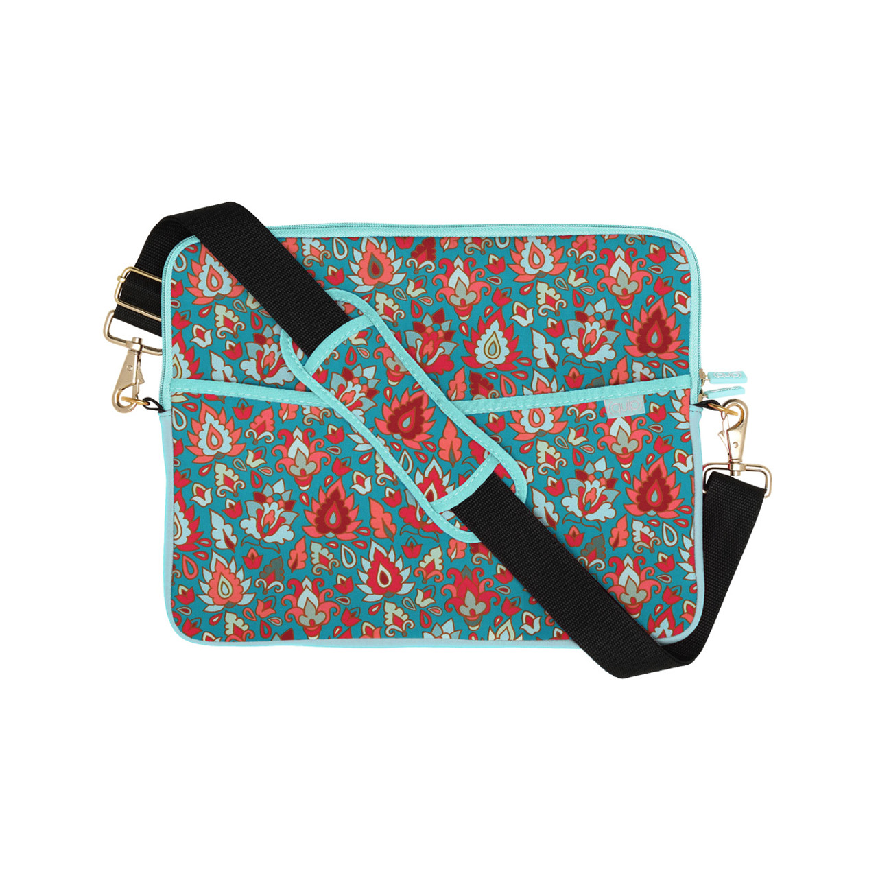 Blue and Black Paisley Therapist Bag