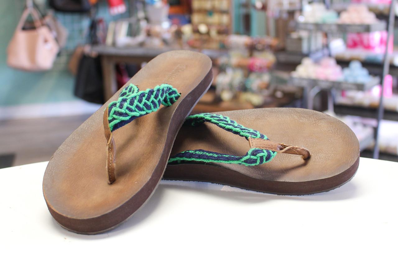 2ef996103 Tallulah Flip Flops - Green