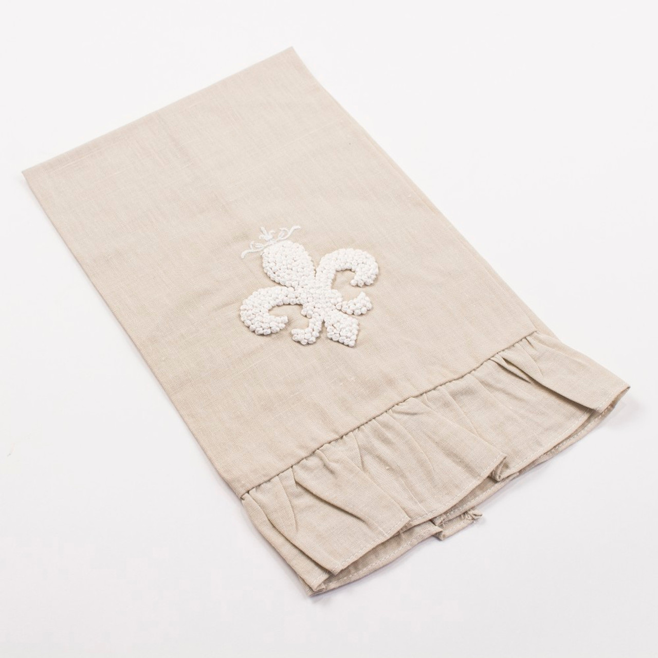 Royal Fleur De Lis French Knot Hand Towel Cordial Lee