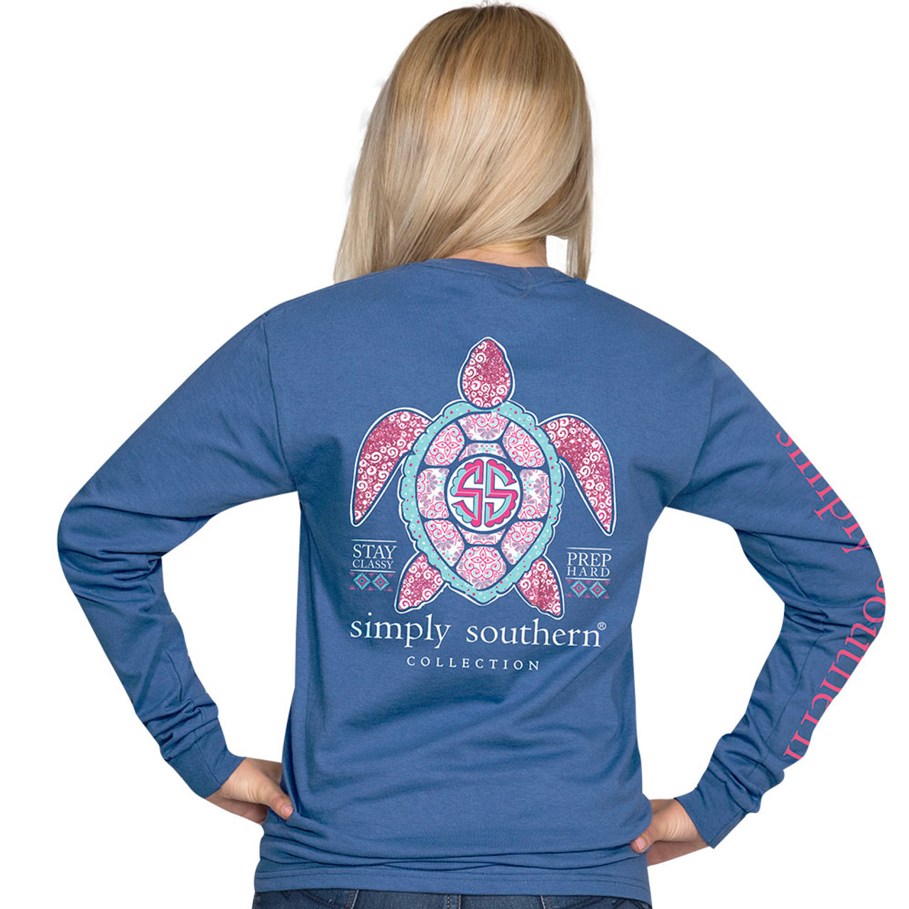 028970de Simply Southern LS Tee - Princess Turtle - Cordial Lee