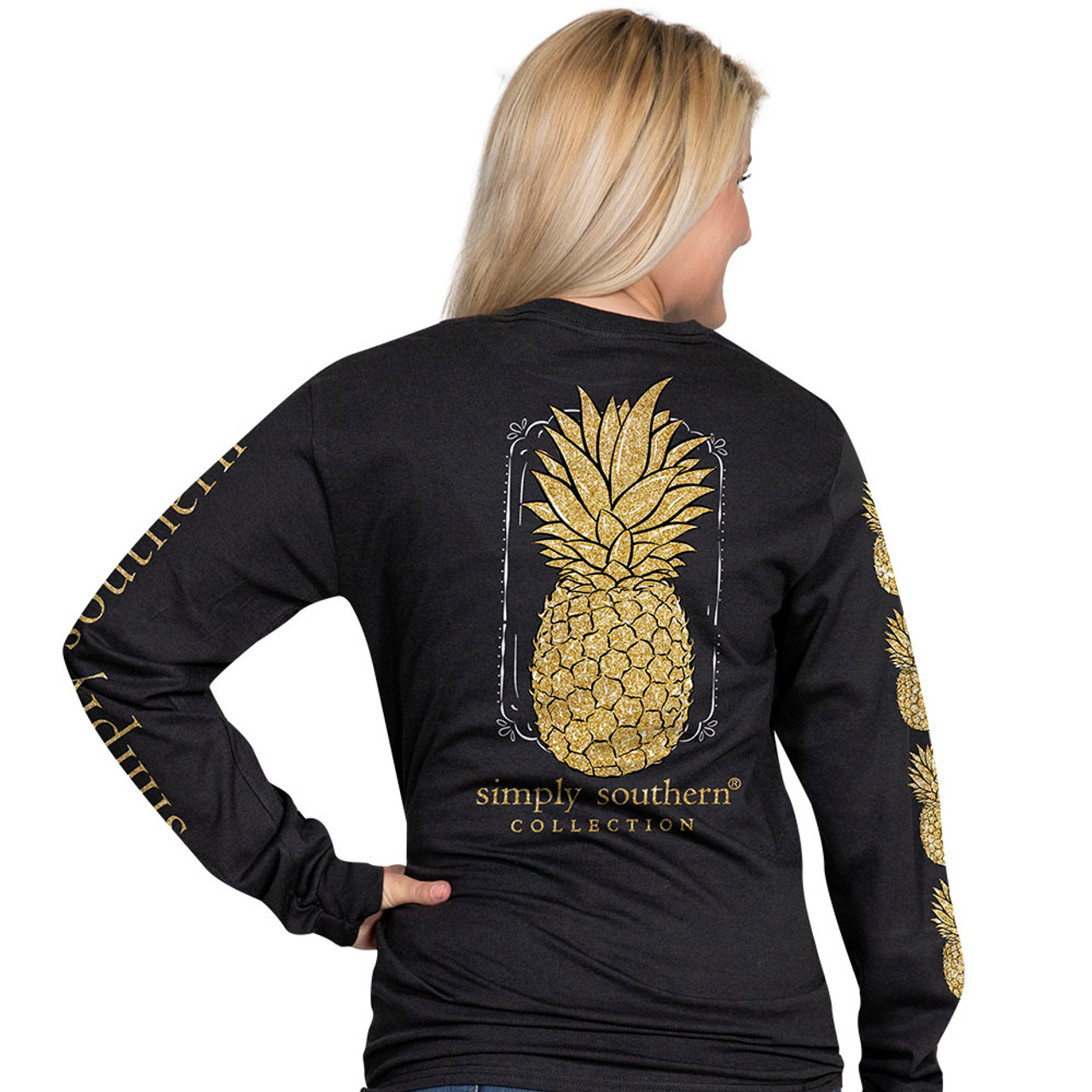 51bd3eb7555 Simply Southern LS Tee - Pineapple - Cordial Lee