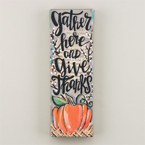 Gather Here & Give Thanks Canvas