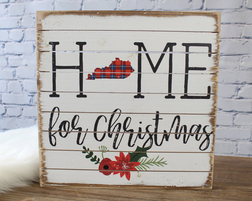 Home for Christmas Pallet Art - Kentucky
