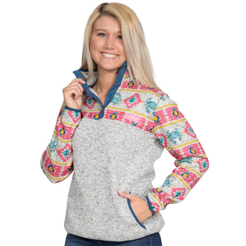 Simply Southern Knit Pullover - Crab