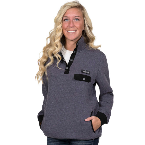 Simply Southern Quilted Pullover - Steel