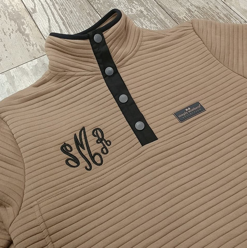 Simply Southern Ribbed Pullover - Mocha