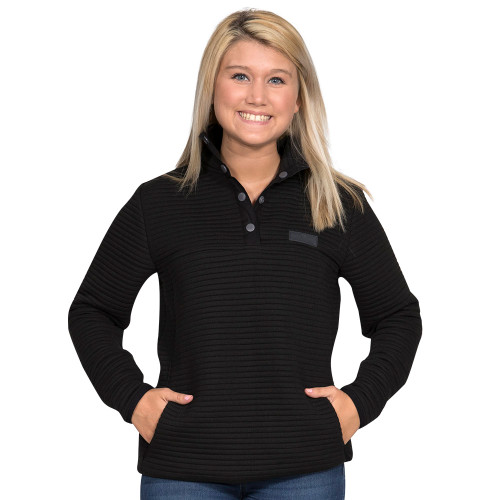 Simply Southern Ribbed Pullover - Black
