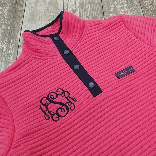 Simply Southern Ribbed Pullover - Pink
