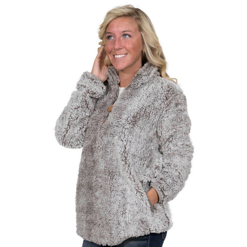 Simply Southern Sherpa Pullover - Pearl