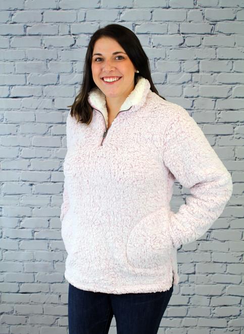 Bria Sherpa Pullover - Pink
