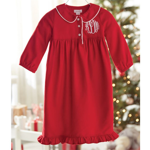 Mud Pie Christmas Night Gown - Red